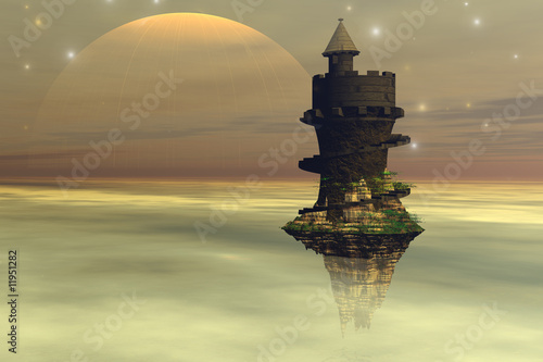Canvas Prints Ship SKY CASTLE