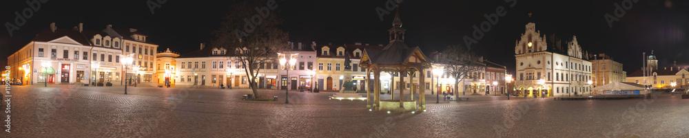 Fototapeta Rzeszowski rynek w nocy