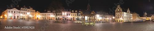 Rzeszowski rynek w nocy