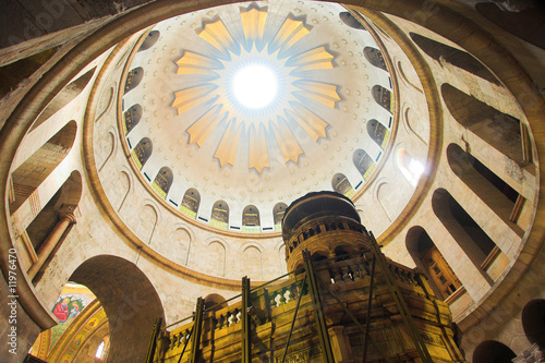 Canvas Print Dome in the church of the Holy Sepulchre, Jerusalem