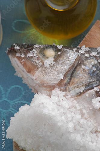 Fotografija  Branzino al sale grosso di cervia - Secondi di pesce - E.R.