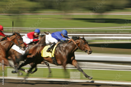 Fotografie, Obraz  Abstract Motion Blur Horse Race