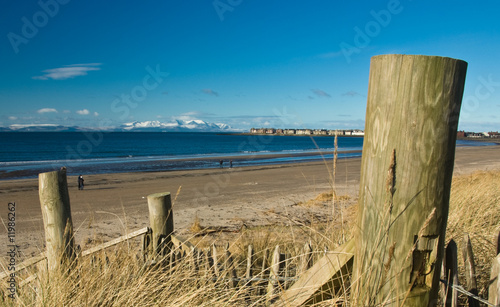 Snow-capped mountains on Island of Arran Canvas Print