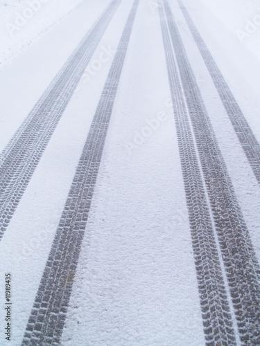 Fotografia, Obraz  hiver ...route