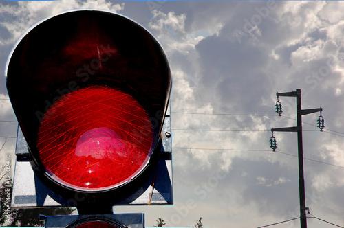 semaforo rosso Canvas Print