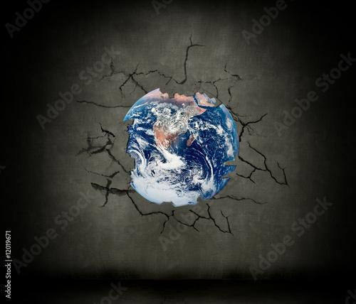 Foto op Plexiglas Schilderingen Earth crash