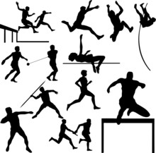Athletic Sport Vector Silhouet...