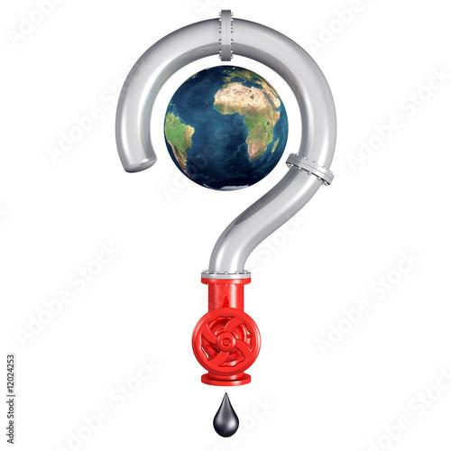 Pipeline formant un point d'interrogation autour de la Terre Canvas Print