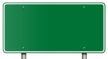 Blank Freeway Sign Isolated On...