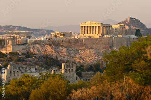 Poster Akropolis in Athen