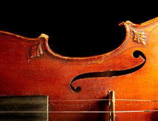 Fototapeta Part of vintage violin