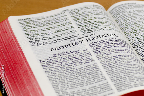 Photo  Bible Page - Ezekiel