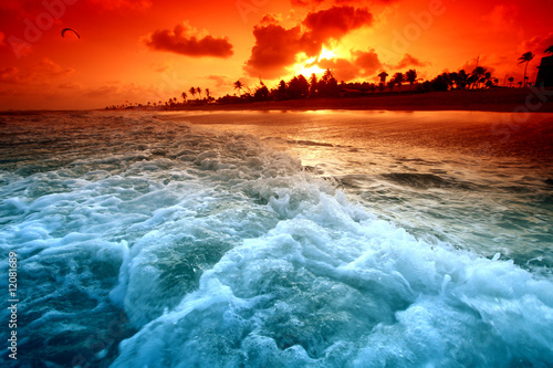 Foto-Leinwand - ocean sunrice