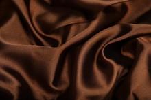 .Brown Smooth Textile As Abstr...