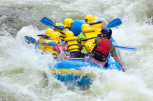 Whitewater Rafting In Class III Rapids