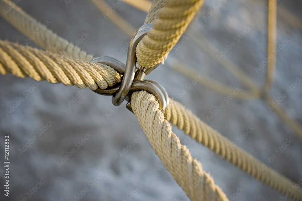 Fototapeta Attached ropes
