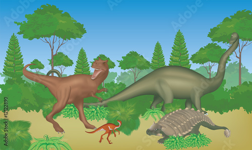 Canvas Prints Dinosaurs dinosaurs