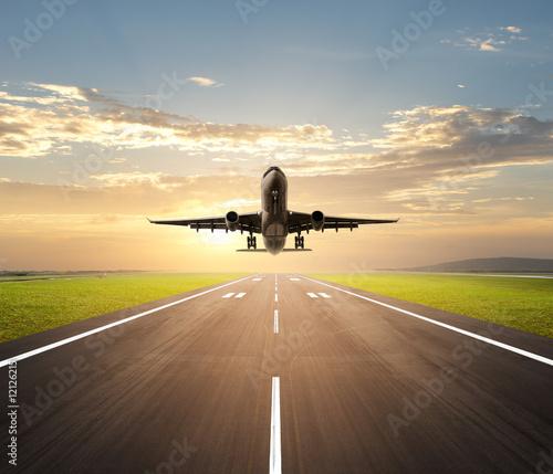 airplane landing #12126215