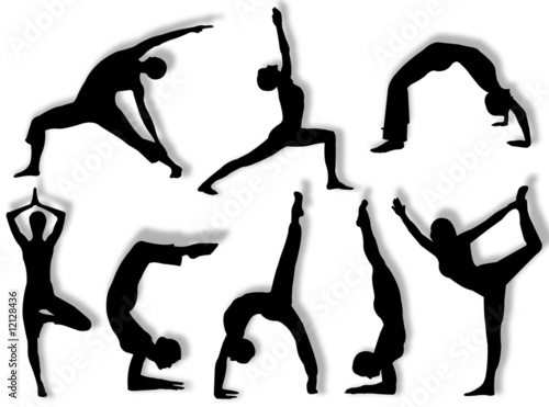 Valokuva  Yoga silhouette