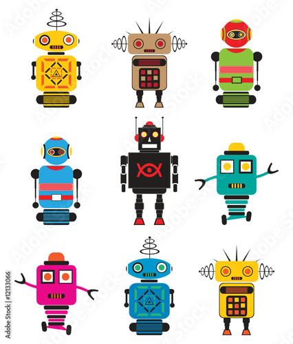 Deurstickers Robots Lovely Little Robots