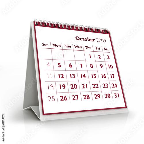Fotografia  2009 calendar. October