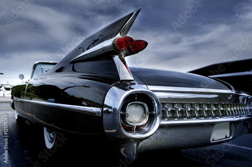 Foto op Plexiglas Oude auto s Tail Lamp Of A Classic Car