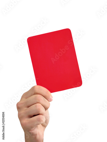 Red Card Canvas Print