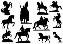 Different Horses Silhouettes