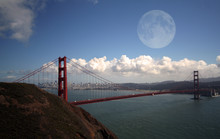 SF Golden Gate Bridge   Mond
