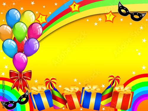 In de dag Regenboog Colourful Carnival party card