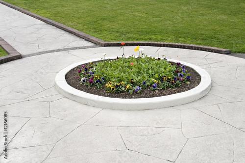 Photo walkway flower bed