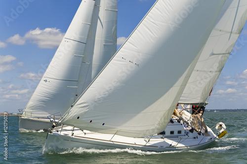 Spoed Foto op Canvas Zeilen Racing Yachts