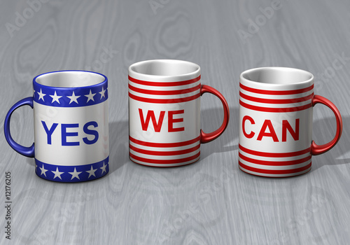 Fotografie, Obraz USA-Kaffeebecher
