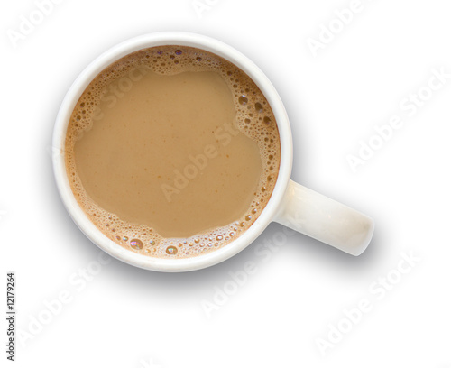 Keuken foto achterwand Chocolade Coffee cup with clipping path