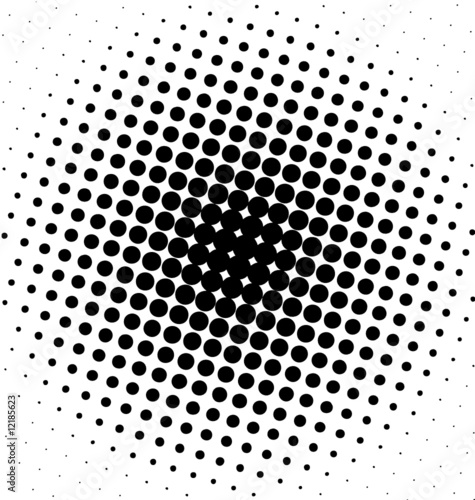 Black spot design halftone dots
