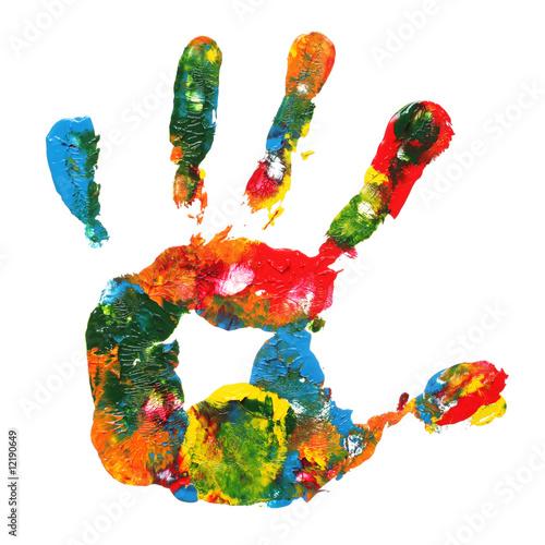 Fotografia, Obraz  Multicolored hand print