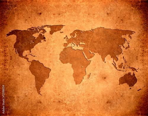 Spoed Foto op Canvas Wereldkaart world map