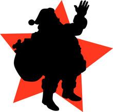 Santa Claus Vector Silhouettes