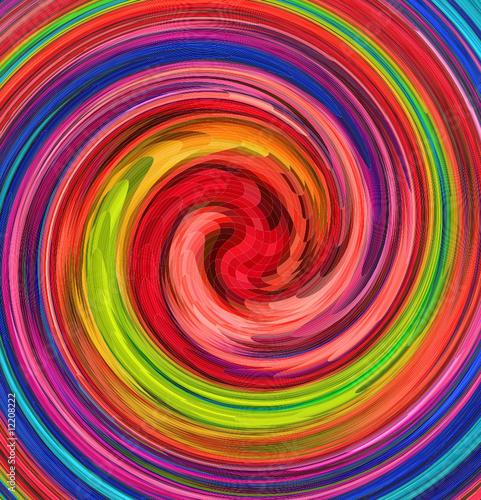 Naklejka Kolorowe zawirowania