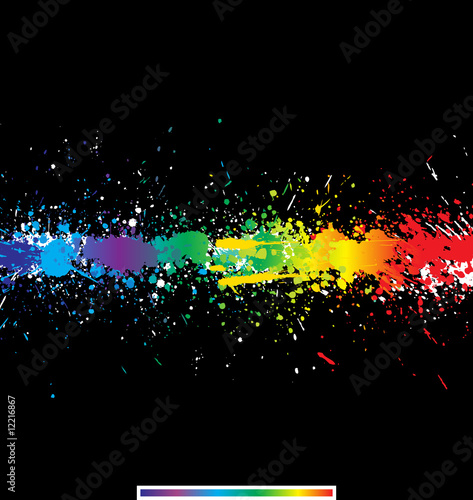 Color paint splashes. Gradient vector background