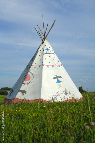 Stickers pour portes Indiens tipi