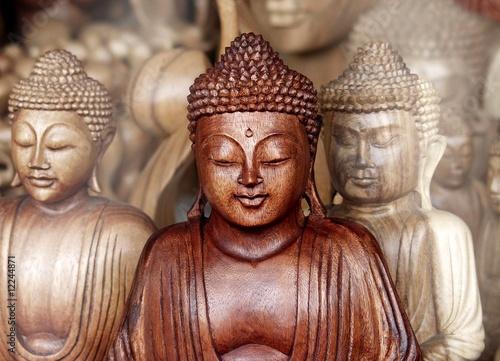 Foto-Stoff bedruckt - Buddha-Holz (von Asiengarten)