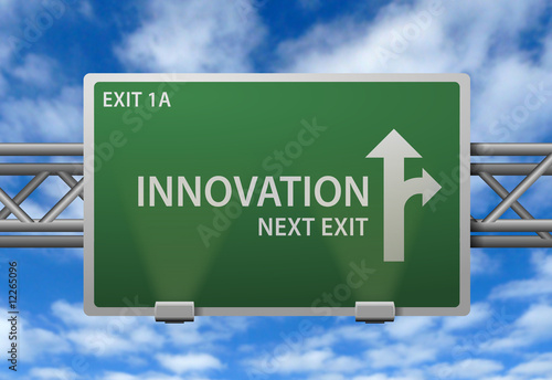 Fotografie, Obraz  Highway Signpost - Innovation Next Exit