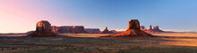 Monument Valley Panorama From Artist Point At Sunset