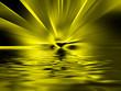 Gelbes Inferno spiegelt sich im Wasser