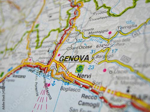 Genova Cartina.Cartina Genova Buy This Stock Photo And Explore Similar