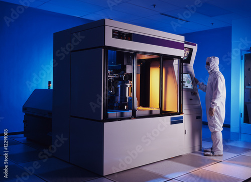 Fototapeta  Large silicon wafer etching machine