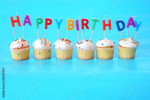 Birthday Cupcakes Canvas Print