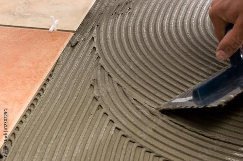 Obraz Floor tiles adhesive - fototapety do salonu
