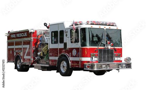 Fire Rescue Truck Wallpaper Mural